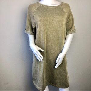 Jersey Dress Olive Green Sweater Dress